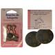 Paire de boucles de salopette métal finition bronze