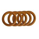 Anneaux bois diamètre 50 mm pour tringle à rideaux - Lot de 5