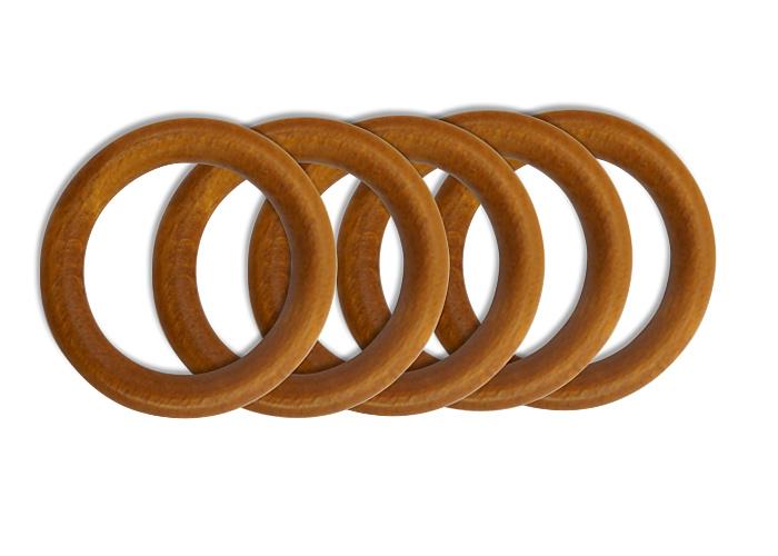 anneaux bois diam tre 50 mm pour tringle rideaux lot de 5. Black Bedroom Furniture Sets. Home Design Ideas