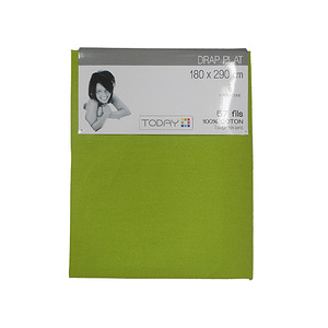 Drap Plat coton uni - Drap plat lit 1 place 90 cm - Drap TODAY