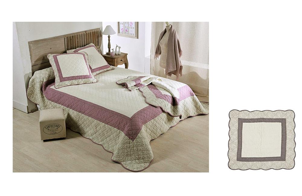 Couvre lit boutis gris angele pour lit 1 place de 90 cm ebay for Royal tiss boutis