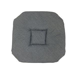 Galette de chaise aspect lin