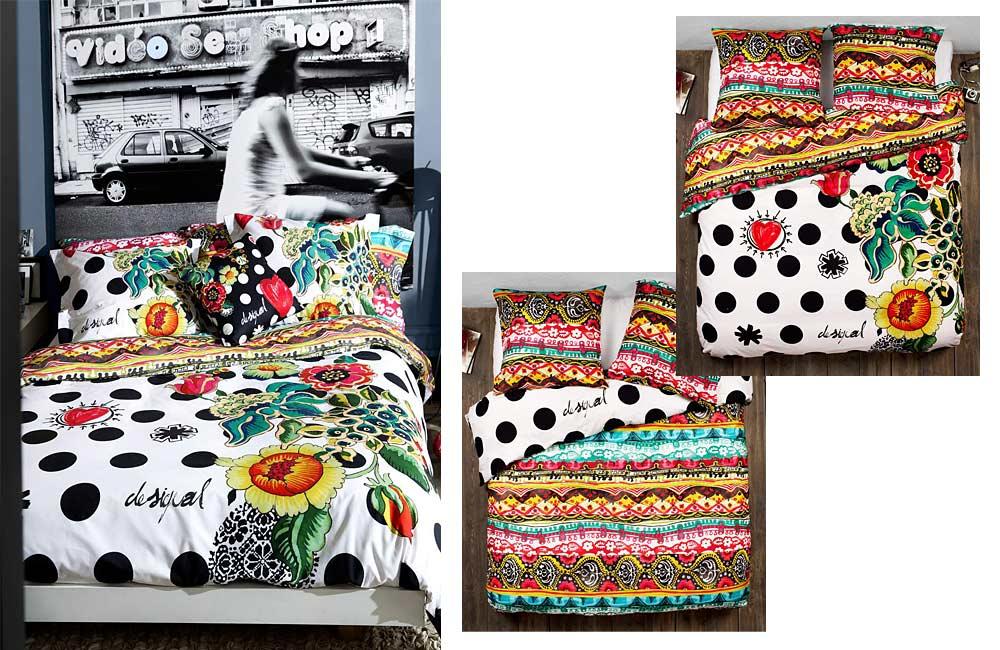 parure housse de couette 220x240 desigual polka dots 2 taies ebay. Black Bedroom Furniture Sets. Home Design Ideas