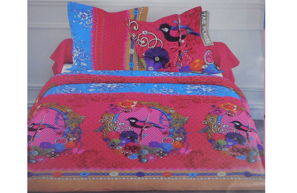 Housse de couette victoria 220x240 2 taies ebay for Royal tiss boutis