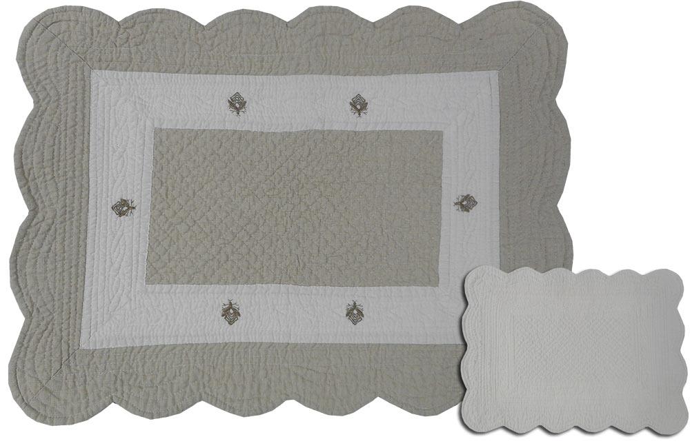 Set de table boutis 50x38 cm motif brod abeille ebay - Set de table brode ...