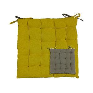 Galette de chaise capitonnée bicolore