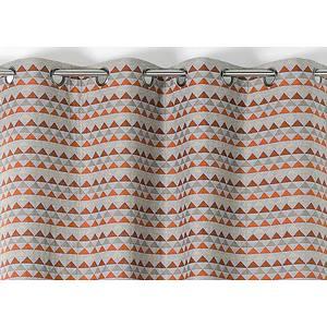 RIdeau SELENA polyester coton 140x245 prêt à poser oeillets ronds