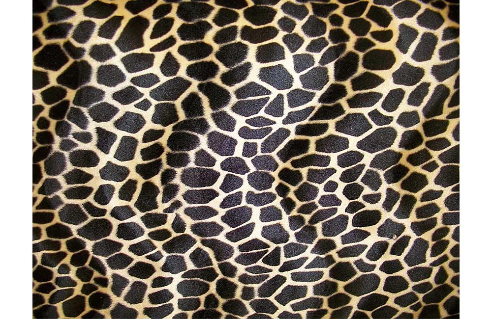 tissu peau de b te fausse fourrure girafe larg 140cm. Black Bedroom Furniture Sets. Home Design Ideas