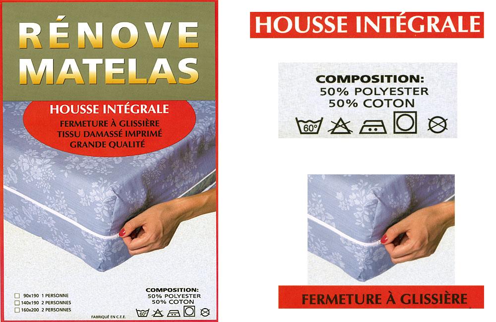 Prot ge matelas housse int grale ebay - Protege matelas housse integrale ...