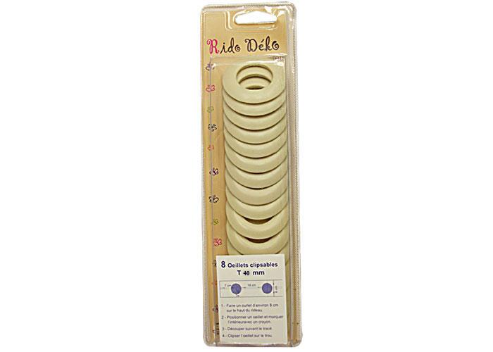 Oeillets clipsables pour rideaux oeillets clipser 40mm oeillet clipsable pour rideau pas cher - Oeillets clipsables pour rideaux ...